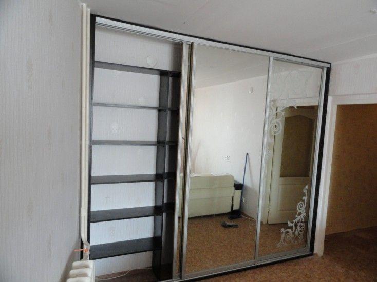 шкаф купе трехдверный зеркало с рисунком 2200 600 с доставкой и